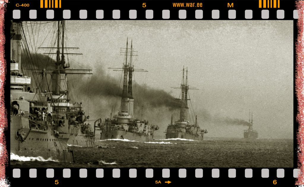 The second brigade of battleships of the battleship squadron of the Baltic Fleet | Zoomed photo