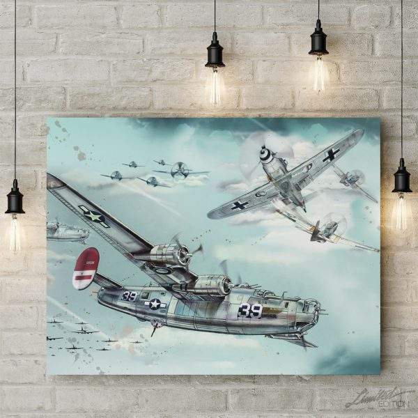 Air-Battle over Europe Canvas Art | Limited Edition