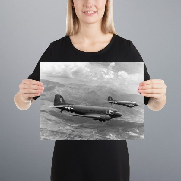 C-47 Skytrains Matte Poster | 12x16 in