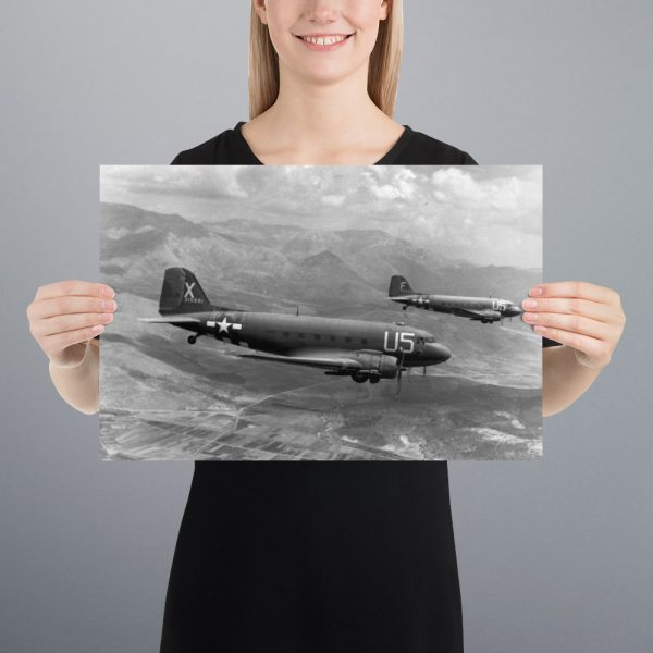 C-47 Skytrains Matte Poster | 12x18 in