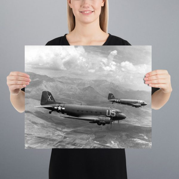 C-47 Skytrains Matte Poster | 16x20 in