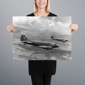 C-47 Skytrains Matte Poster | 18x24 in