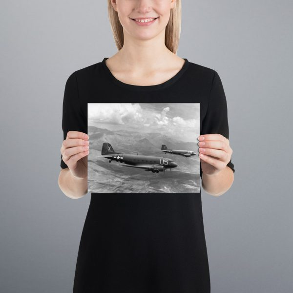 C-47 Skytrains Matte Poster | 8x10 in