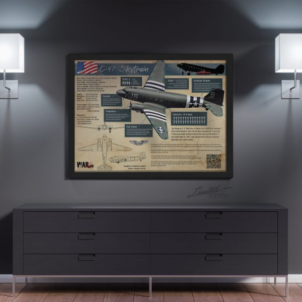 C-47 Skytrain Infographic | Framed Limited Edition