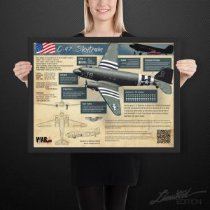 C-47 Skytrain Infographic | Framed Limited Edition | 18x24 in