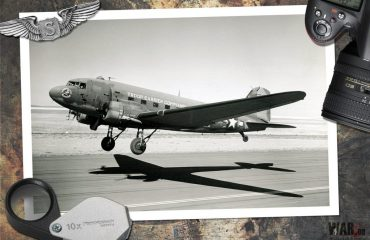 555th Parachute Infantry C-47 Skytrain taking off