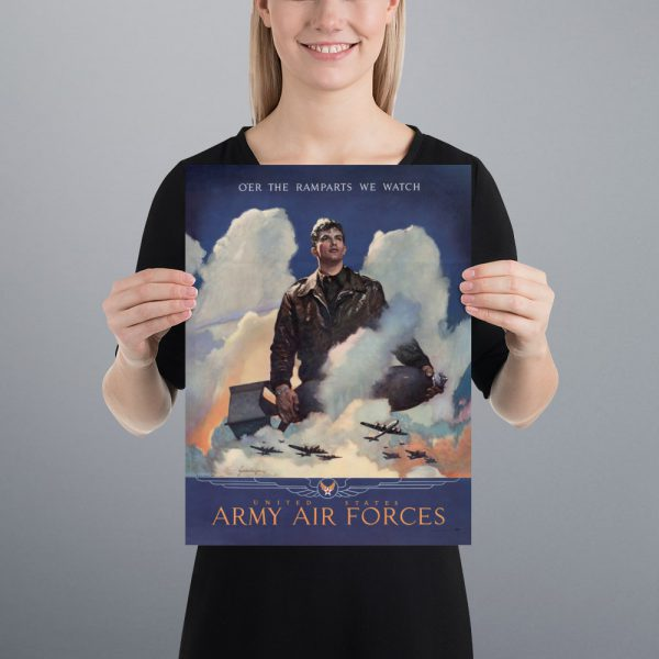 O'er the ramparts we watch: US Army Air Forces Matte Poster | 12x16