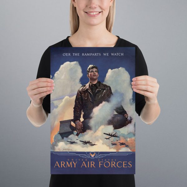 O'er the ramparts we watch: US Army Air Forces Matte Poster | 12x18
