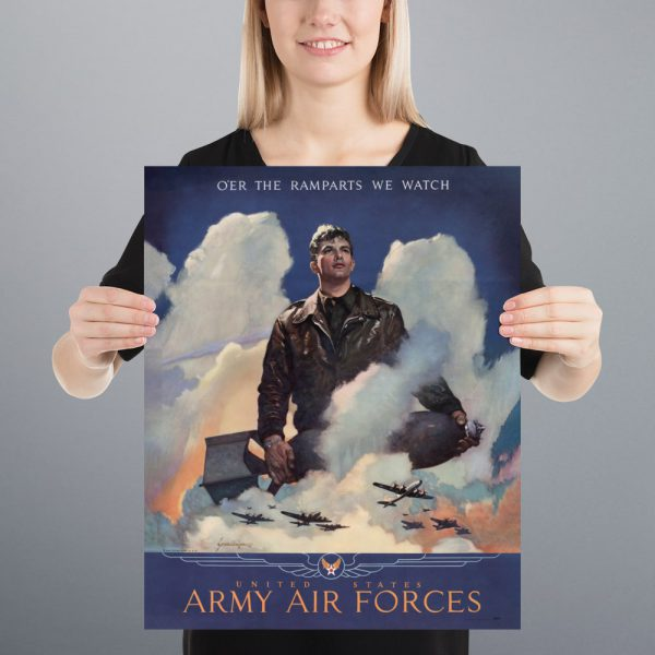 O'er the ramparts we watch: US Army Air Forces Matte Poster | 16x20