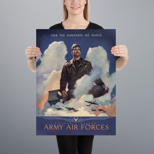 O'er the ramparts we watch: US Army Air Forces Matte Poster | 18x24