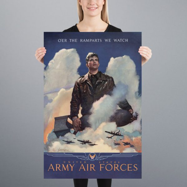 O'er the ramparts we watch: US Army Air Forces Matte Poster | 24x36