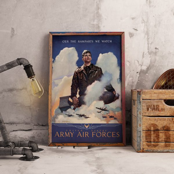 O'er the ramparts we watch: US Army Air Forces Matte Poster