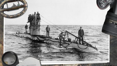 The crew of a German UC-1 class submarine on deck